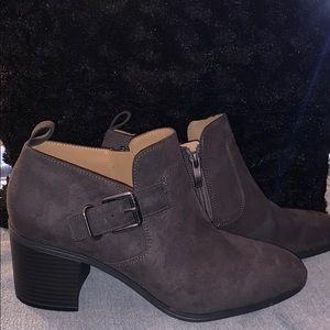 Franco Sarto block heeled bootie